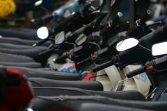 Stationnement de motocyclette Images libres de droits