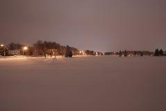Stationnement de nuit Image stock