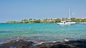 'Stationnement de plage d'Anaeho'omalu Image libre de droits