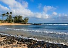 Stationnement de plage de Poipu Image libre de droits
