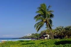 Stationnement de plage sur la grande île Image libre de droits