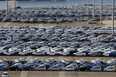 stationnement de port de véhicule Photographie stock