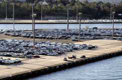 stationnement de port de véhicule Photo stock