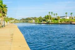 Stationnement de rivière de Hadera Images libres de droits