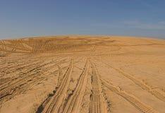 Stationnement de sable d'ATV Images libres de droits