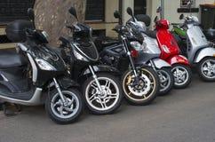 Stationnement de scooter Image stock