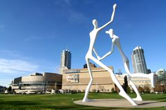 Stationnement de sculpture - Denver Images libres de droits