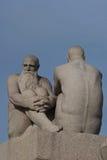 Stationnement de sculpture en Vigeland à Oslo, Norvège Image libre de droits