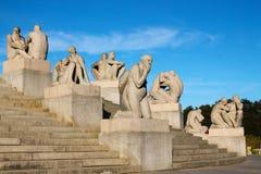 Stationnement de sculpture en Vigeland à Oslo, Norvège Photos stock