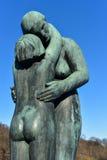 Stationnement de sculpture en Vigeland Images libres de droits