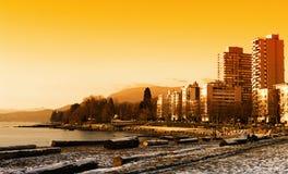 Stationnement de Stanley, Vancouver Photo stock