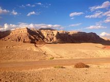 Stationnement de Timna, Israël Image libre de droits
