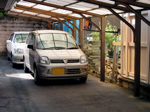 Stationnement de véhicules photos libres de droits