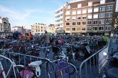 Stationnement de vélo Photographie stock