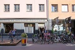 Stationnement de vélo dans Gotgatsbacken image stock