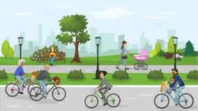 Stationnement de ville illustration libre de droits