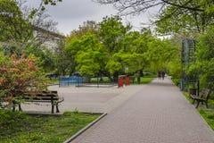 Stationnement de ville Photo stock
