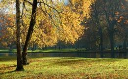 Stationnement de Vizille en automne Photographie stock