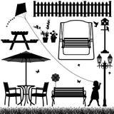 Stationnement de zone de yard de jardin extérieur Photographie stock