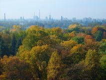 Stationnement de Zrodliska à Lodz Photographie stock libre de droits