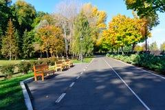 Stationnement en automne Image libre de droits