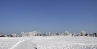 Stationnement en hiver Photo libre de droits