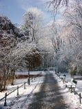 Stationnement en horaire d'hiver photos stock