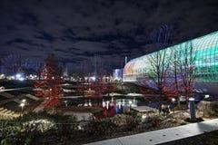 Stationnement et jardin botanique, Ville d'Oklahoma Photos stock
