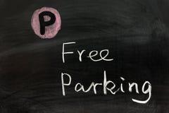 Stationnement gratuit Photo libre de droits