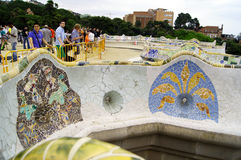 Stationnement Guell à Barcelone, Espagne Photos libres de droits