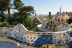 Stationnement Guell, Barcelone image stock