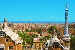 Stationnement Guell, Barcelone, Espagne Image libre de droits