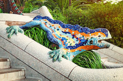 Stationnement Guell, Barcelone - Espagne Photos stock