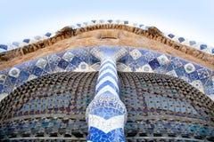 Stationnement Guell de Barcelone du modernisme de Gaudi photographie stock