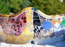 Stationnement Guell de Barcelone du modernisme de Gaudi image libre de droits