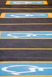 stationnement handicapé Photographie stock libre de droits
