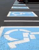 Stationnement handicapé Image libre de droits