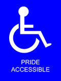 Stationnement handicapé de fierté Image stock