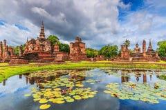 Stationnement historique de Sukhothai, Thaïlande Image libre de droits