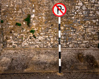 Stationnement interdit photographie stock