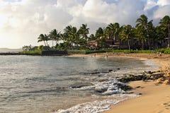Stationnement Kauai de plage de Poipu Image libre de droits