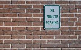 Stationnement 30 minute Photographie stock libre de droits