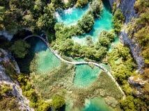 Stationnement national Croatie de lacs Plitvice Image libre de droits
