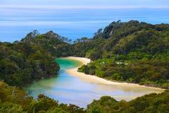 Stationnement national d'Abel Tasman, Nouvelle Zélande Photographie stock libre de droits