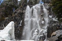 Stationnement national d'estortes de ¼ d'Aigà de cascade à écriture ligne par ligne de Ratera Photo libre de droits
