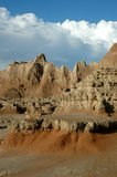 Stationnement national de bad-lands Photo libre de droits
