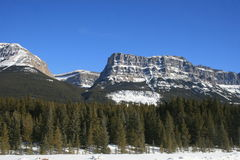 stationnement national de banff Canada Photo stock