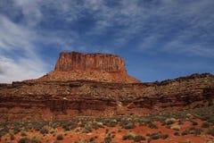 Stationnement national de Canyonlands de roche rouge Photos libres de droits