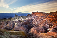 Stationnement national de Death Valley de point de Zabruski Photographie stock