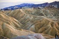 Stationnement national de Death Valley de point de Zabruski Photographie stock libre de droits